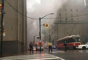 Ledakan di Toronto akibat kebakaran listrik bawah tanah