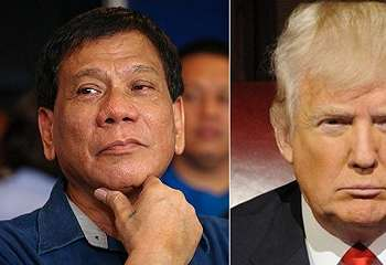 Duterte Puji Trump dan Istrinya
